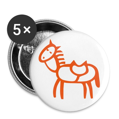 Button Paula orange - Buttons klein 25 mm