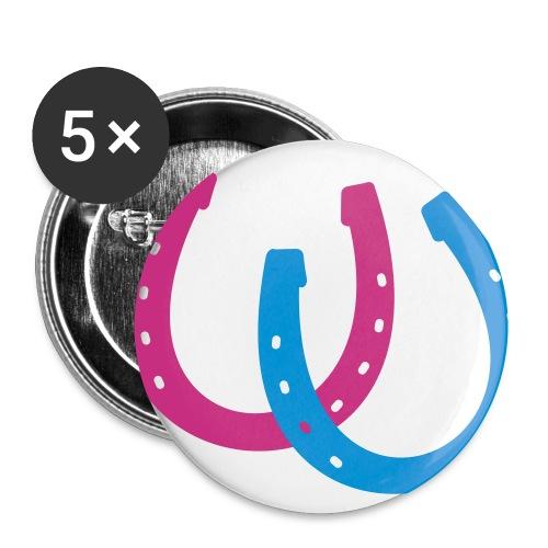 Button Fluga pink/blau - Buttons klein 25 mm