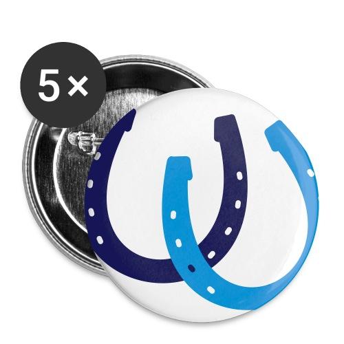 Button Fluga blau - Buttons klein 25 mm