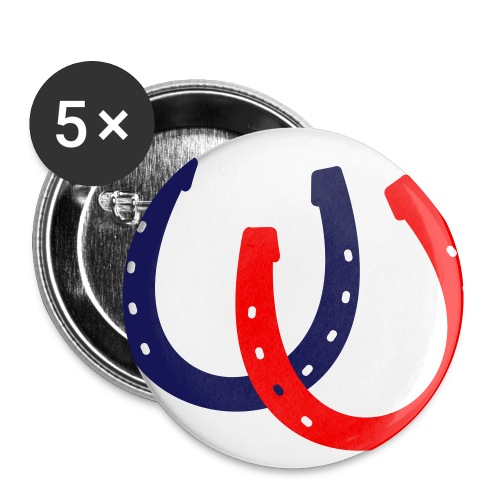 Button Fluga blau/rot - Buttons klein 25 mm