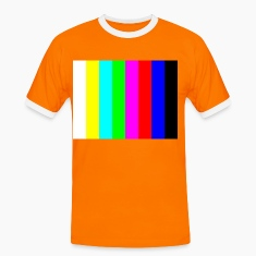 Orange/black Colour bars Men's T-Shirts