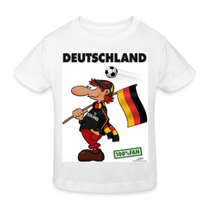 Bio-Fanshirt Deutschland Red Kids - Kinder Bio-T-Shirt