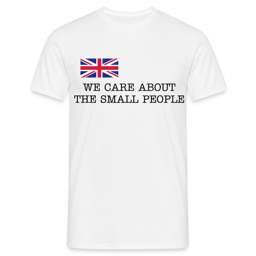 We care about the small people - T-shirt herr