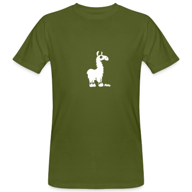 Moss green Lama (c) Men's T-Shirts