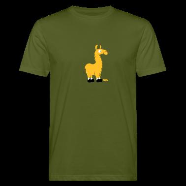 Moss green Lama (c) Men's T-Shirts