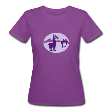 Purple Lama (c) Women's T-Shirts