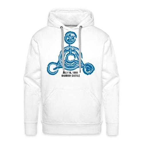 Crop Circle Barbury Castle: Blue Edition - Männer Premium Hoodie