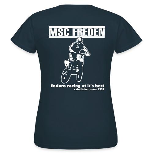 Frauen T-Shirt **Flex Druck** Modern Druck hinten ***  - Frauen T-Shirt