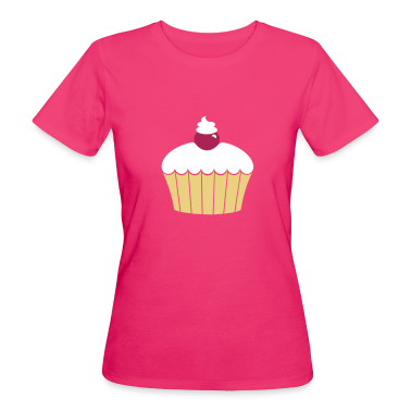 Neon pink Muffin / cup cake (3c) Women's T-Shirts