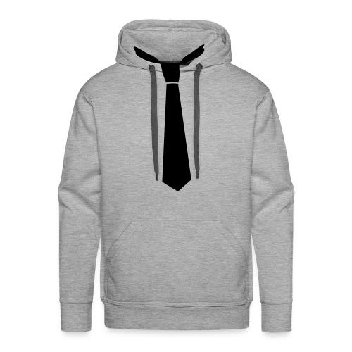 Tie Hoodie Tee - Men's Premium Hoodie