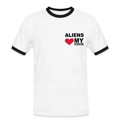 Aliens Love my Cock - Männer Kontrast-T-Shirt