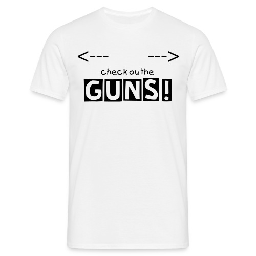 check the guns - T-skjorte for menn