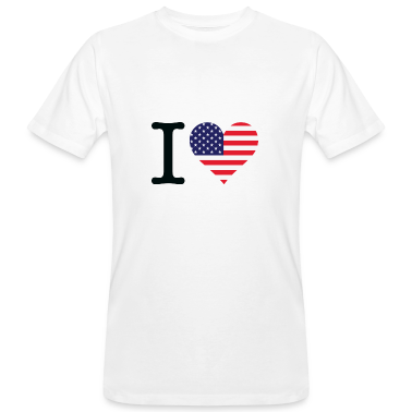 Bianco I Love USA Original (DD) T-shirt