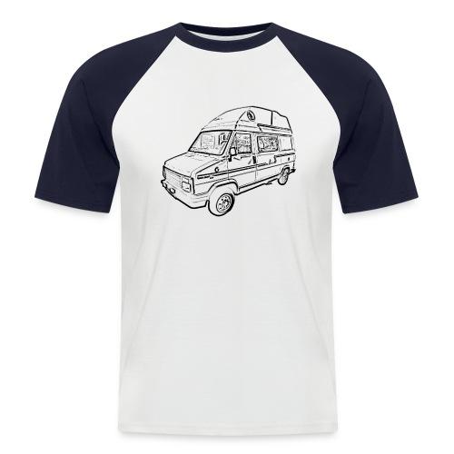 C25 Camperbus - Mannen baseballshirt korte mouw