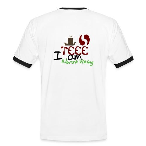 I am norsk Viking - Kontrast-T-skjorte for menn