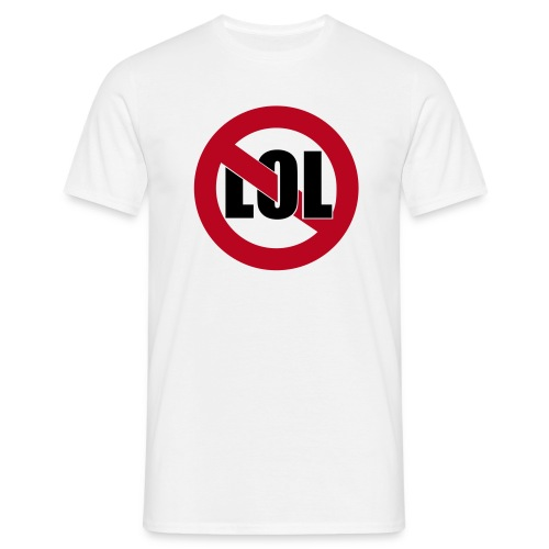 No LOL - White - T-shirt herr