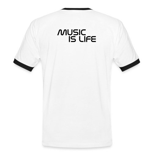 Music is life - T-shirt contrasté Homme
