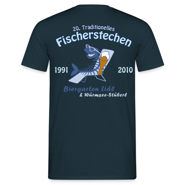 Biergarten Lidl 20. Fischerstechen 2010 - Jubiläumsshirt - Digital Direktdruck