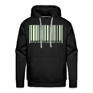 Hoodies & Sweatshirts ~ Men's Premium Hoodie ~ glow in the dark barcode