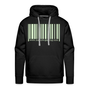 glow in the dark barcode - Men's Premium Hoodie