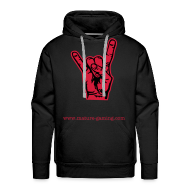 Hoodies & Sweatshirts ~ Men's Premium Hoodie ~ red sparkle