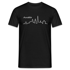 Anrather Herren-T-Shirt schwarz grosses Logo - Männer T-Shirt