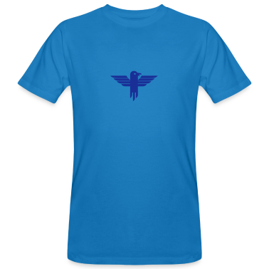 Blu pavone icona aquila / eagle icon (1c) T-shirt