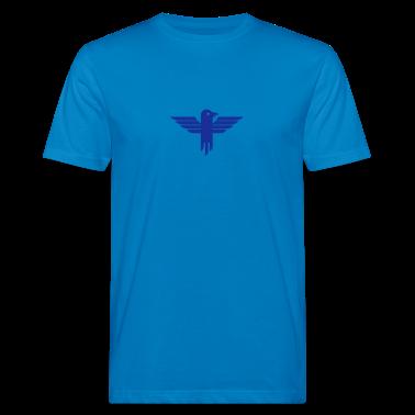 Blu pavone icona aquila / eagle icon (1c) T-shirt