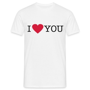 I Love You - Mannen T-shirt