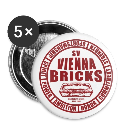 Emblem (White/Red) - Buttons mittel 32 mm (5er Pack)