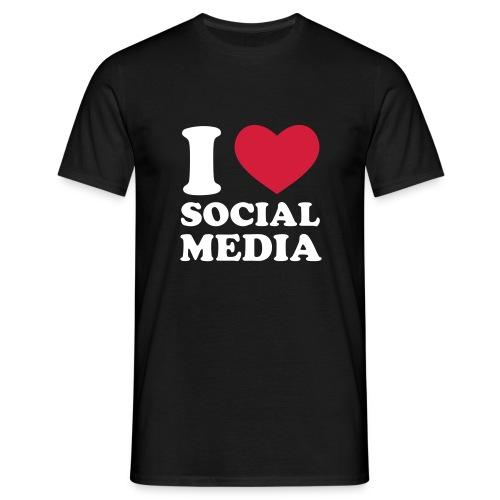 I love Social Media - Black - Uomo - Maglietta da uomo