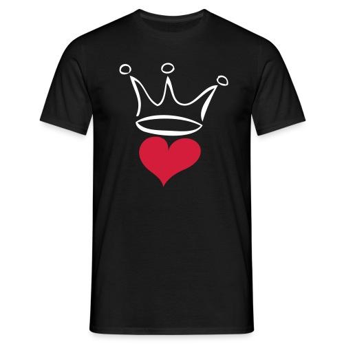 Herzkönig - Männer T-Shirt