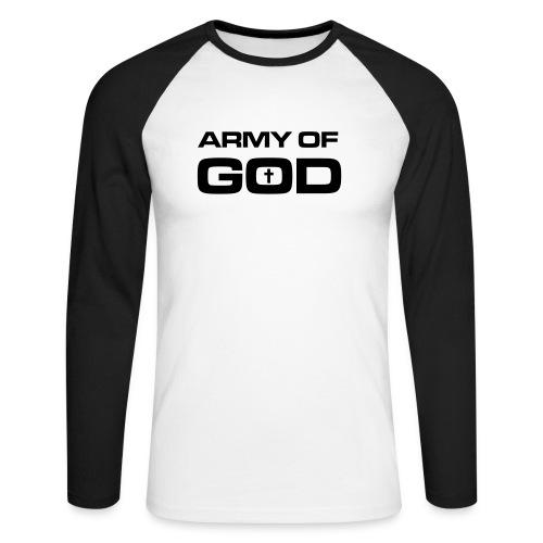 Army of God - Mannen baseballshirt lange mouw