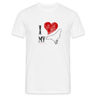 T-Shirts ~ Men's T-Shirt ~ I LOVE MY PIGEON (Mens Classic)