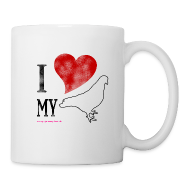 Mugs & Drinkware ~ Mug ~ I LOVE MY PIGEON (Right Handed Mug)