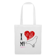 Bags & Backpacks ~ Tote Bag ~ I LOVE MY PIGEON Tote Bag
