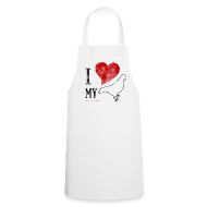 Aprons ~ Cooking Apron ~ I LOVE MY PIGEON Cooking Apron