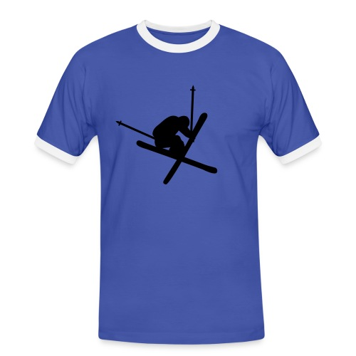 T-shirt jump X blue - Kontrast-T-skjorte for menn