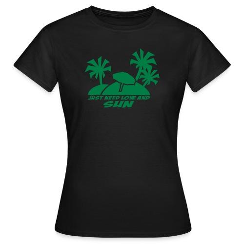 shirt - tbog - love and sun - Frauen T-Shirt