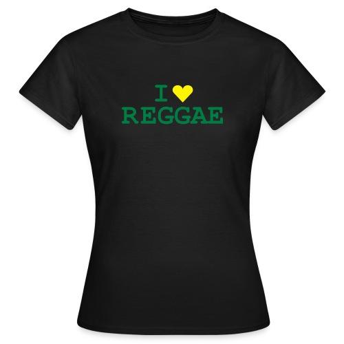 shirt - tbog - i love reggae - Frauen T-Shirt