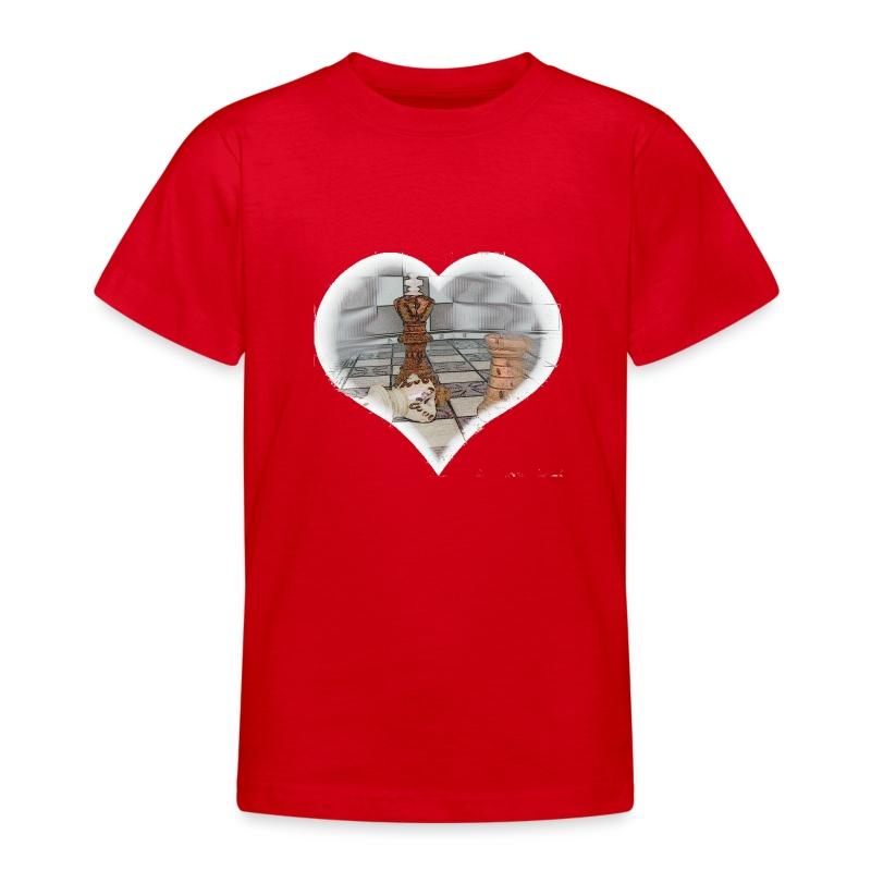 Herz 2-seitig  - Teenager T-Shirt