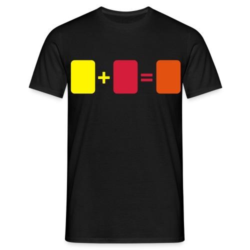 Men: Geel + Rood = ORANJE t-shirt - Mannen T-shirt