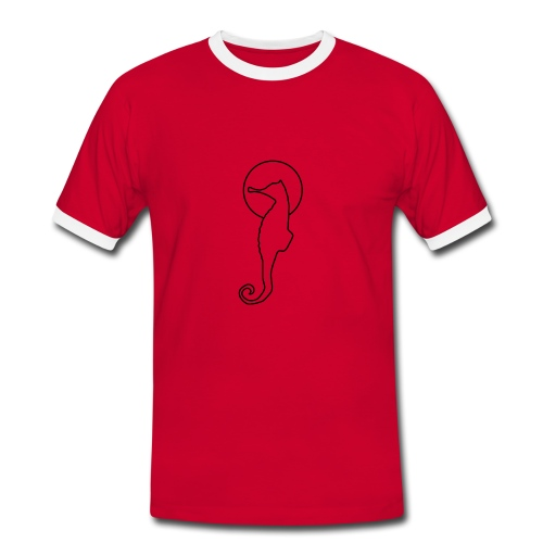 Space Horse simple Original red - Männer Kontrast-T-Shirt