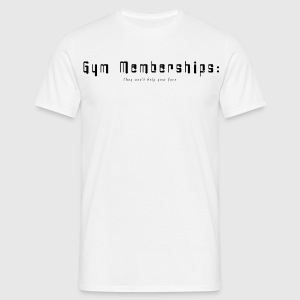 White Gym Membership Men's T-Shirts - Men's T-Shirt