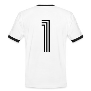 TORENTFERNER - Mit Rückennummer 1 - Männer Kontrast-T-Shirt