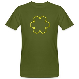 YellowIbis.com 'Chemical Structures' Men's / Unisex Earth Positive Organic T: 18-crown-6 Luck (Moss Green) - Men's Organic T-shirt