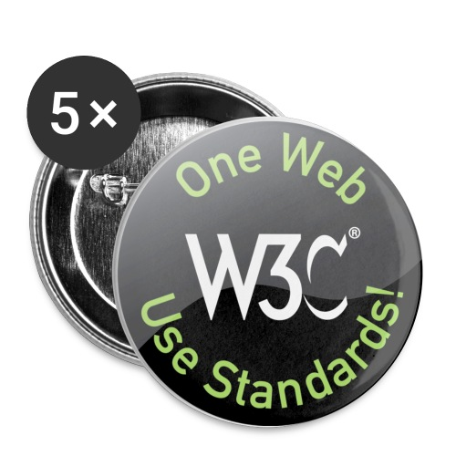 ow_black_badges - Buttons small 1''/25 mm (5-pack)