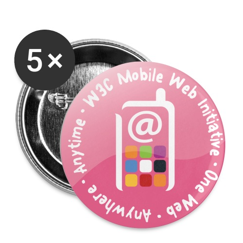 mwi_pink_badges - Buttons small 1''/25 mm (5-pack)
