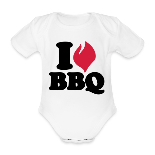 I love BBQ Romper - Baby bio-rompertje met korte mouwen