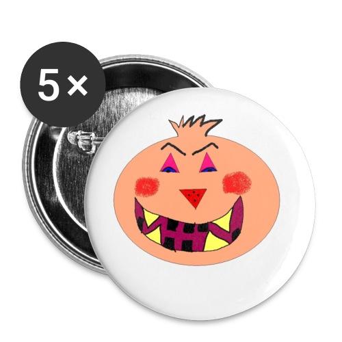 Anstecker Kürbis - Buttons klein 25 mm